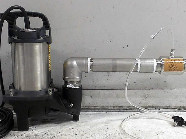 塗装ブースの水槽浄化