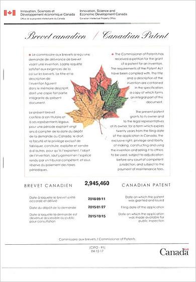 カナダ特許